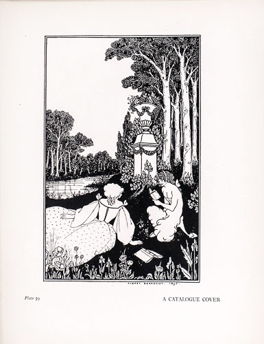 Vintage witchy woman Aubrey Beardsley print #3 13\u201dx10\u201d